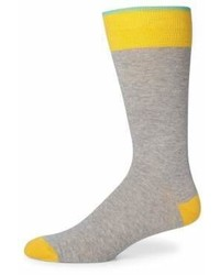 Saks Fifth Avenue Collection Colorblock Combed Cotton Blend Socks