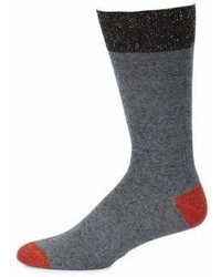 Saks Fifth Avenue Collection Melange Solid Socks
