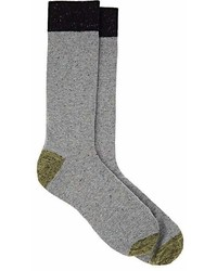 Barneys New York Donegal Effect Cotton Blend Mid Calf Socks