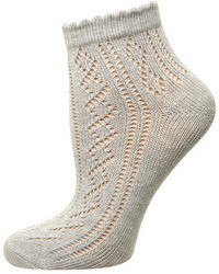Dorothy Perkins Grey Pointelle Sock
