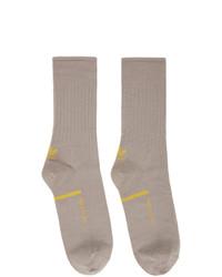 Oamc Grey Adidas Originals Edition Logo Socks