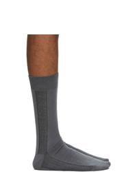 Issey Miyake Men Grey Border Socks