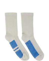 Rick Owens Grey Glitter Socks