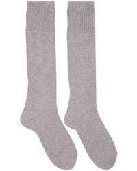Grey knit socks medium 761540