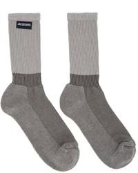 Jacquemus Grey La Montagne Les Chaussettes Lenvers Socks