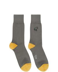 Ps By Paul Smith Grey Zebra Socks