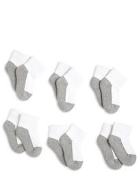 Jefferies Socks Llc Unisex Baby 6 Pack Seamless Sport Half Cushion Quarter Socks