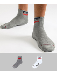 Levi's Mid Cut Retro Logo Socks 2 Pack