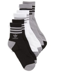 adidas Originals 3 Pack Ribbed Ankle Crew Socks