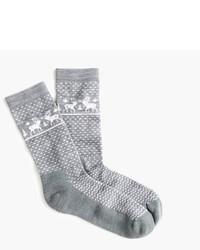 J.Crew Reindeer Trouser Socks
