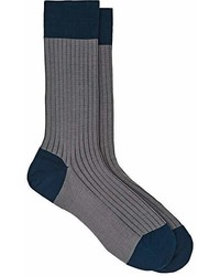 Barneys New York Rib Knit Cotton Blend Socks