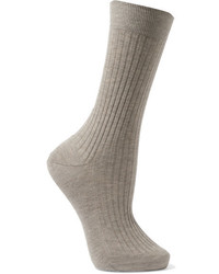Ribbed organic cotton socks gray medium 3660226