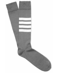 Thom Browne Striped Cotton Blend Socks