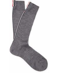 Thom Browne Striped Ribbed Merino Wool Socks