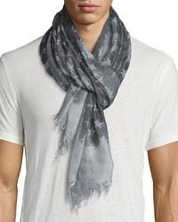 John Varvatos Cashmere Blend Star Print Scarf Flat Grey
