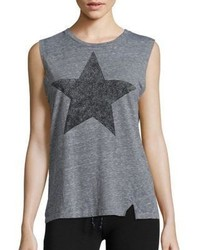 Sundry Distress Star Muscle Tank