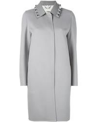 Fendi Studded Single Breasted Coat