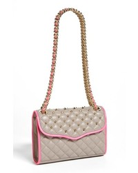 Rebecca Minkoff Affair Mini Studded Convertible Crossbody Bag Grey Neon Pink