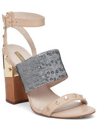 Kellyn studded triple strap leather sandals medium 666967