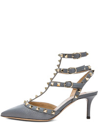 Rockstud leather slingbacks t65 medium 141167
