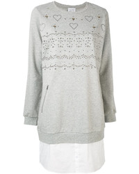 Twin-Set Studded Sweatshirt Dress