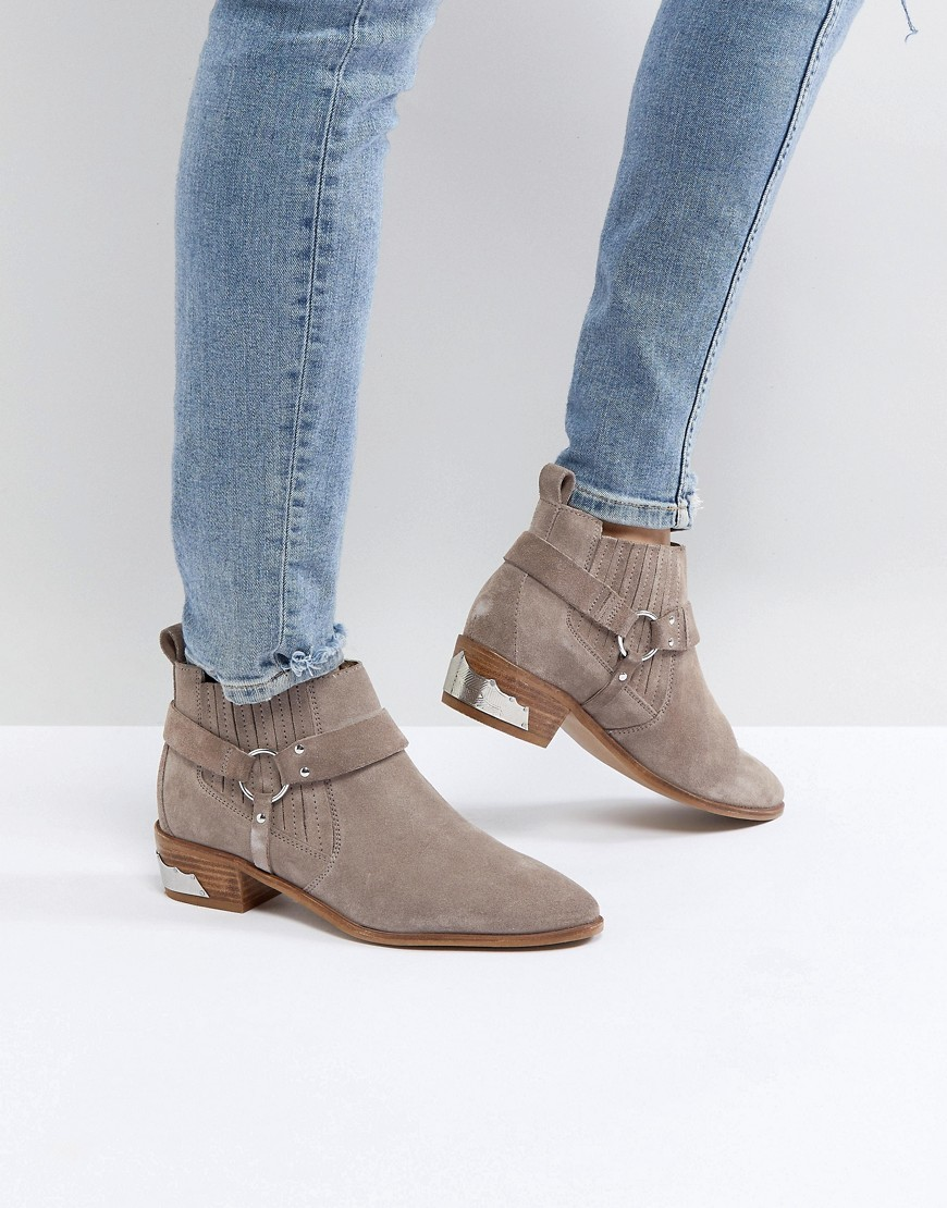 Office Atlas Taupe Suede Western Ankle