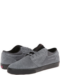 Grey Suede Athletic Shoes