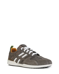 Geox Grey Suede Athletic Shoes
