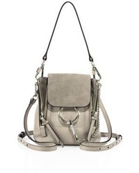 Chloé Chloe Faye Leather Suede Mini Backpack