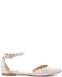 Chloé Suede Ballerina Shoes