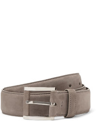 Loro Piana 35cm Grey Suede Belt