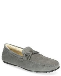 Tod's Slip On Suede Boat Shoes