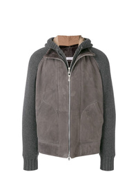Brunello Cucinelli Leather Hooded Jacket