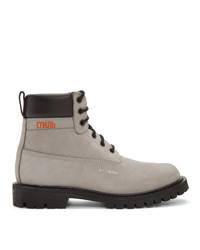 Heron Preston Grey Worker Boots