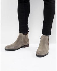 Call it SPRING Ocade Suede Zip Boots In Taupe