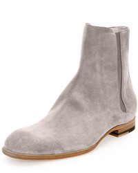 Maison Margiela Suede Chelsea Boot Light Gray