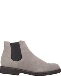 Barneys New York Suede Chelsea Boots Grey