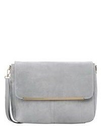 Grey Suede Clutch