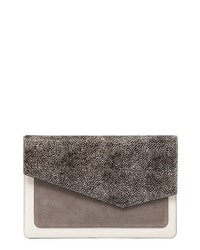 Botkier Cobble Hill Calfskin Leather Flap Clutch