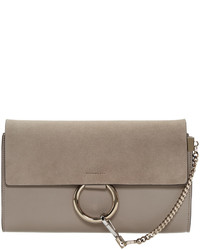 Chloé Grey Faye Clutch