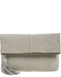 Leith Suede Clutch Grey