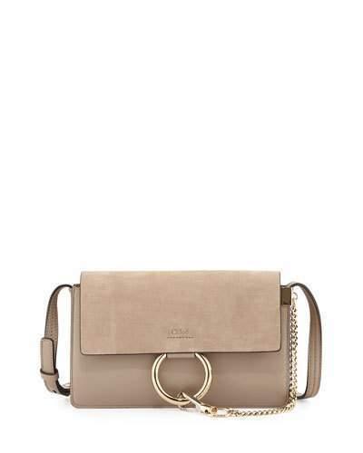 f11d45c7e55 $1,390, Chloé Chloe Faye Small Suede Shoulder Bag Gray