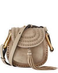 Chloé Chloe Hudson Small Saddle Bag Motty Gray