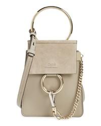 81cd14762e6ac Women s Grey Suede Crossbody Bags by Chloé