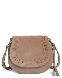 Kirie suede leather crossbody saddle bag red medium 4913193