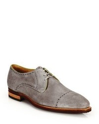 Corthay Ike Suede Lace Up Derby Oxfords