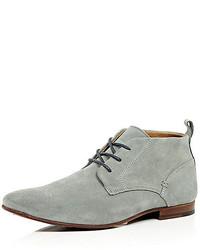 efed914cf9d Men's Grey Suede Desert Boots by River Island | Men's Fashion ...