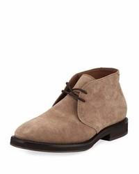 Brunello Cucinelli Suede Desert Boot Gray