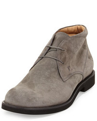 Suede lace up chukka boot gray medium 342992