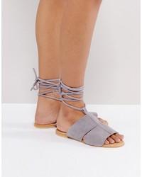 Future suede tie leg flat sandals medium 4419980